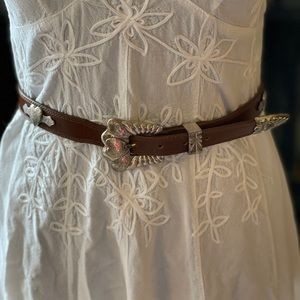Western leather belt S